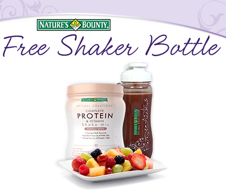 free nautres bounty shaker FREE Nature's Bounty Shaker Bottle (First 75,000)