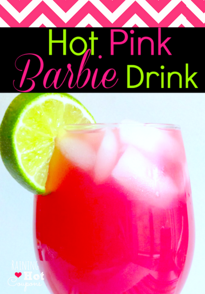 Hot Pink Barbie Drink Alcoholic And Non Alcoholic Version