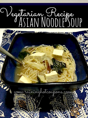Cheap Vegetarian Recipes: Asian Noodle Soup
