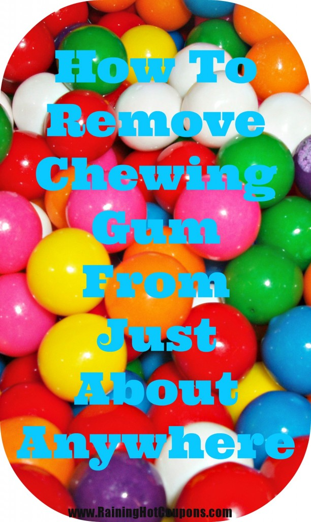 removegum 612x1024 How To Remove Chewing Gum From Just About Anywhere