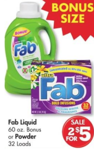 screen shot 2013 07 01 at 10 09 57 pm New $1/1 Fab Liquid or Powder Laundry Detergent Coupon = Only $1.50 at Family Dollar