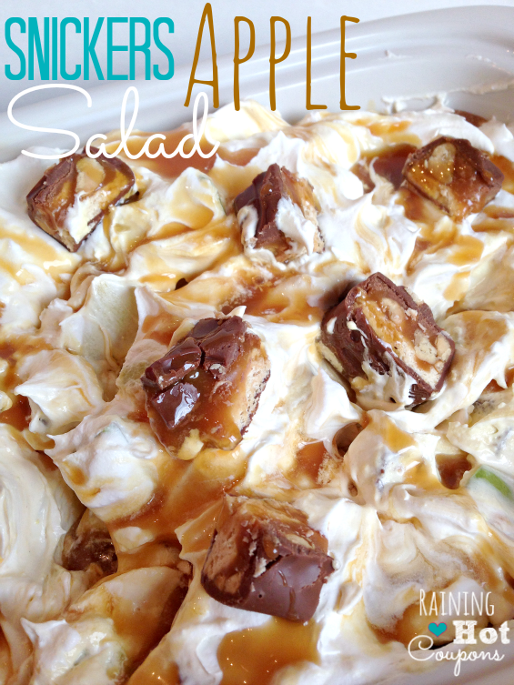 snickers apple salad 3 Snickers Caramel Apple Salad Recipe
