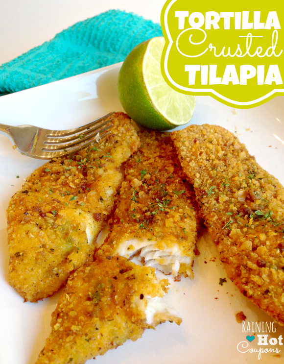 tortilla tilapia 3 Tortilla Crusted Tilapia Recipe
