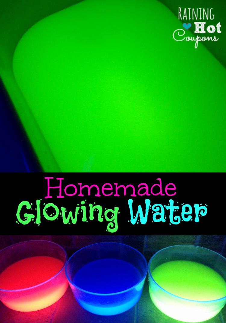 Homemade Glowing Water - this is SO COOL and SO easy to make!