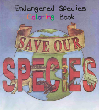 free save our species endangered species coloring book free shipping. Black Bedroom Furniture Sets. Home Design Ideas