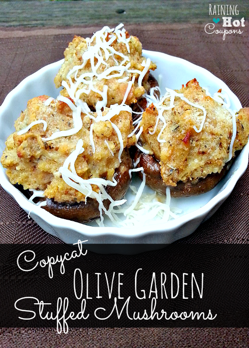 Copycat Olive Garden Stuffed Mushrooms Recipe