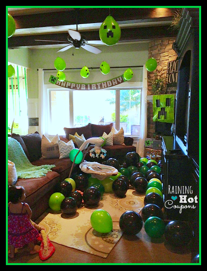 balloons Minecraft Party Ideas