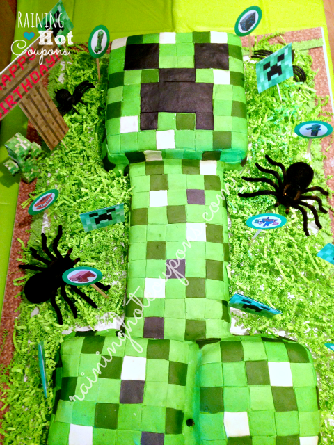 cake 2 Minecraft Party Ideas