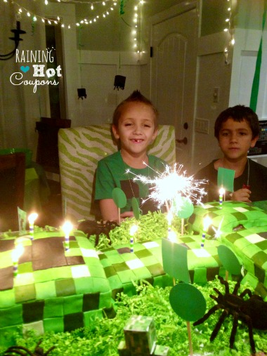 cake 3 Minecraft Party Ideas