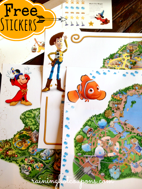 disney maps FREE Walt Disney World Customized Map AND FREE Stickers + FREE Shipping (Great Keepsake!)