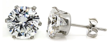 earrings1 2 Carat Cubic Zirconia Stud Earrings only $.99 + FREE Shipping (Reg. $25.99)!