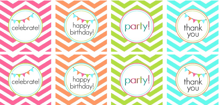 graphic relating to Printable Party known as No cost Chevron Printable Get together Style and design Thank Yourself Notes + Even more!