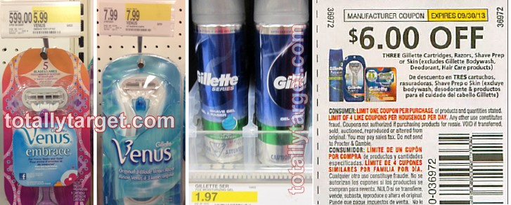 gilette shave gel free target As Low As Free Gillette Shave Gel and Razors at Target
