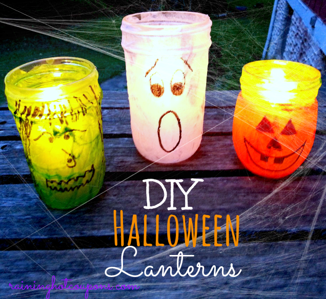 halloween lanterns Adorable Halloween Jar Lanterns