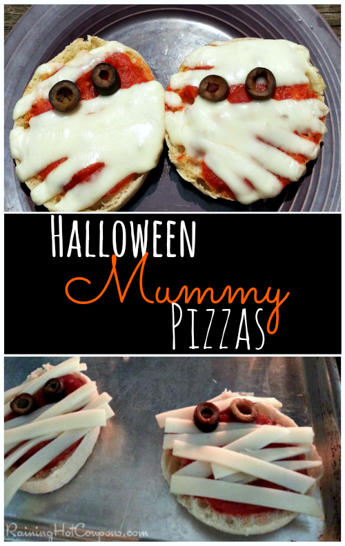 halloween mummy pizzas Yummy Mummy Pizzas Halloween Recipe