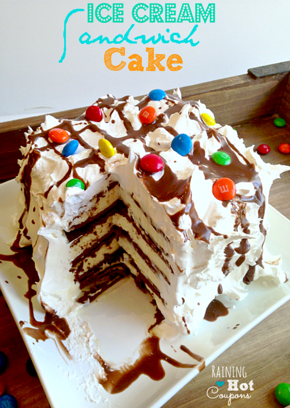 Cake Ice Cream Sandwich Recipe : Ice Cream Sandwich Cake No Bake Recipe (SUPER Easy!)