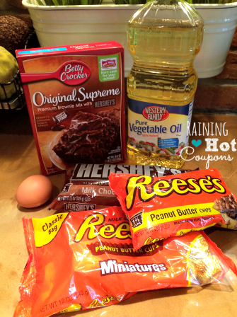ingredients1 Reeses Peanut Butter Cup Brownies Recipe