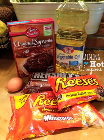 ingredients1 Reeses Peanut Butter Cup Brownies Recipe