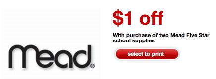 mead Target: 8 FREE Mead Five Star Folders!
