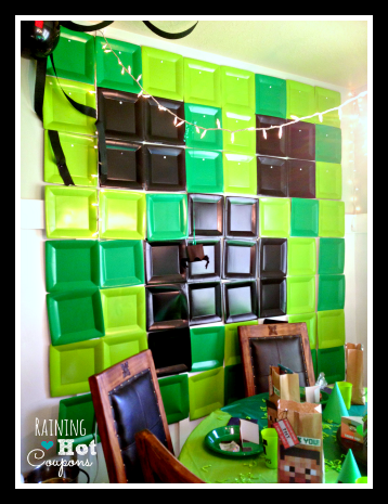 minecraft wall Minecraft Party Ideas