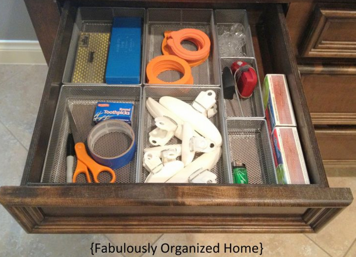 16 easy kitchen organization ideas and tips with pictures for Kitchen junk drawer