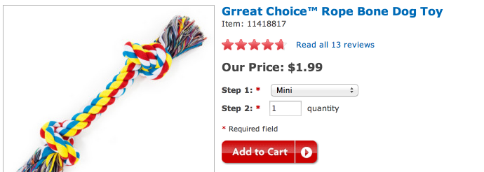 rope *HOT* PetSmart: FREE Rope Dog Toy