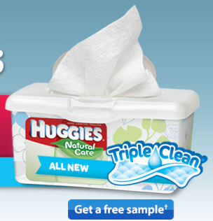 sample2 FREE Huggies Triple Clean Wipes Sample