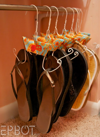 sandals 20 Unique Home Organizing Ideas with Pictures!