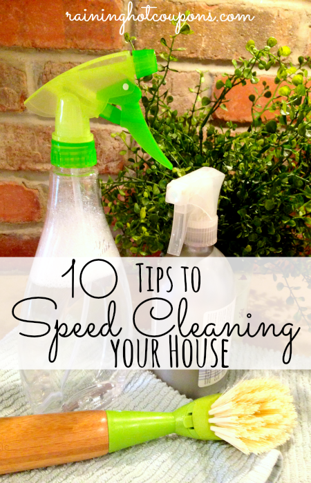 speed cleaning 10 Tips to Speed Cleaning Your House