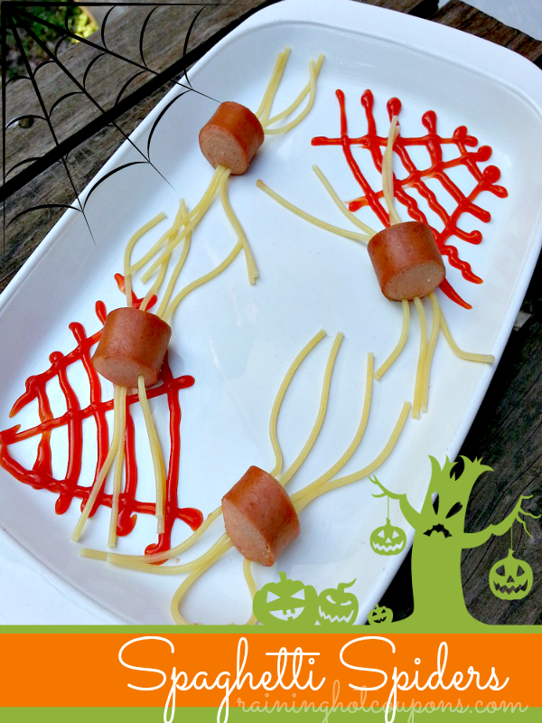 Creepy Crawly Spaghetti Spiders Recipe