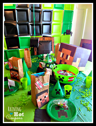 table Minecraft Party Ideas
