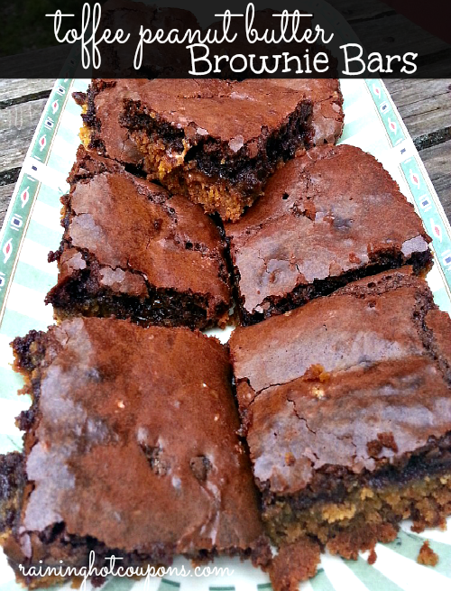 toffee brownies Toffee Peanut Butter Brownie Bars Recipe