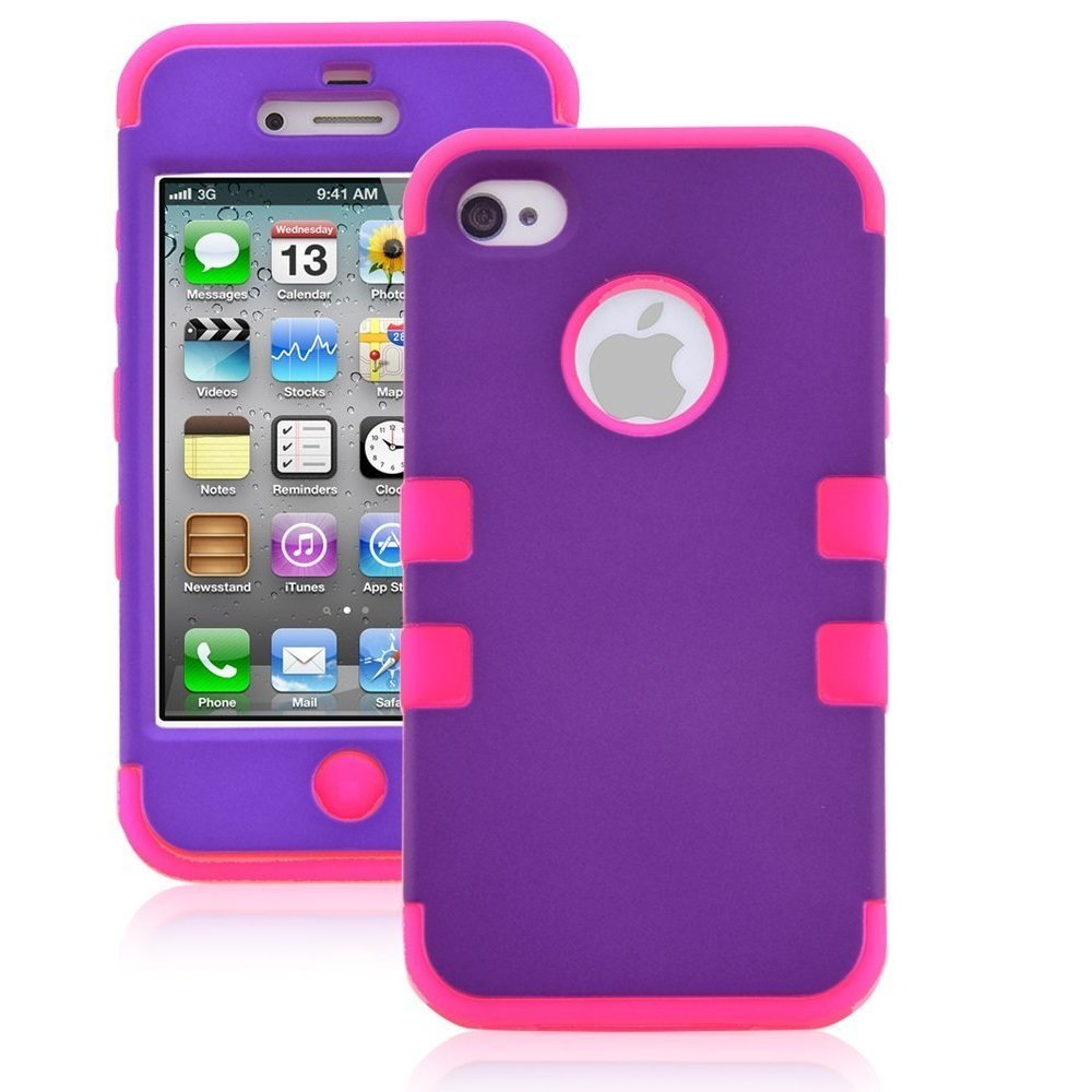 Armor Impact Defender Hybrid Double Case for Iphone 4 & 4s ...