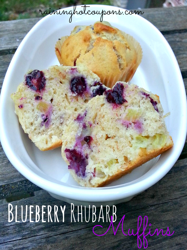 Blueberry Rhubarb Muffins Blueberry Rhubarb Muffins Recipe
