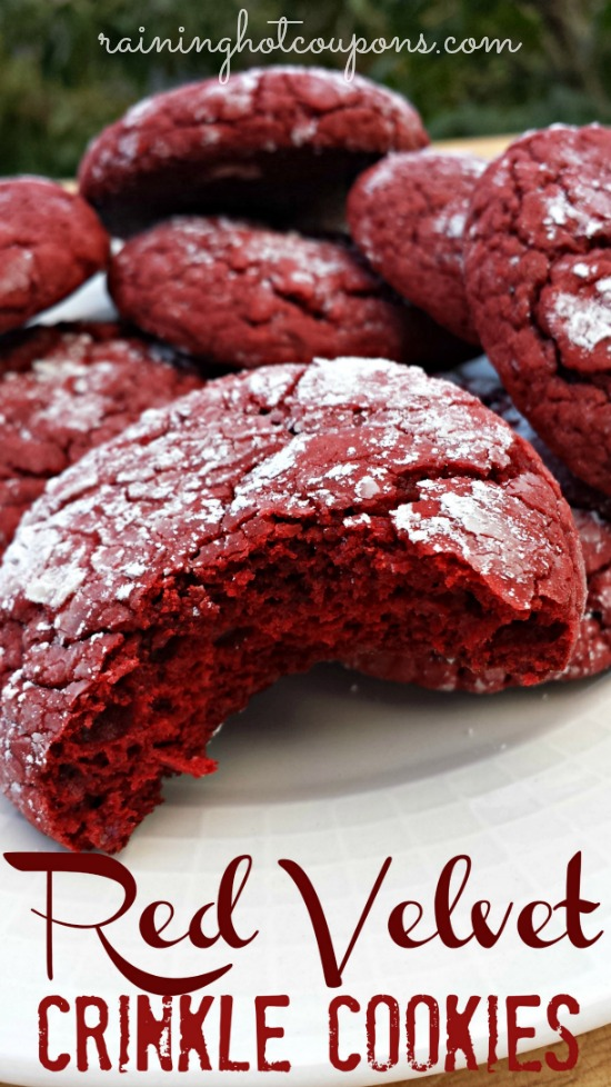 Red Velvet Crinkle Cookies 2 Red Velvet Crinkle Cookies Recipe