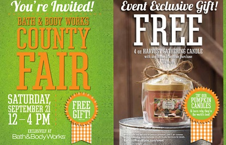 bathandbody web Bath & Body Works: FREE Harvesting Gathering Candle at County Fair Event (9/21)