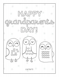 Free Printable Grandparents Day Coloring Pages from Carter\'s