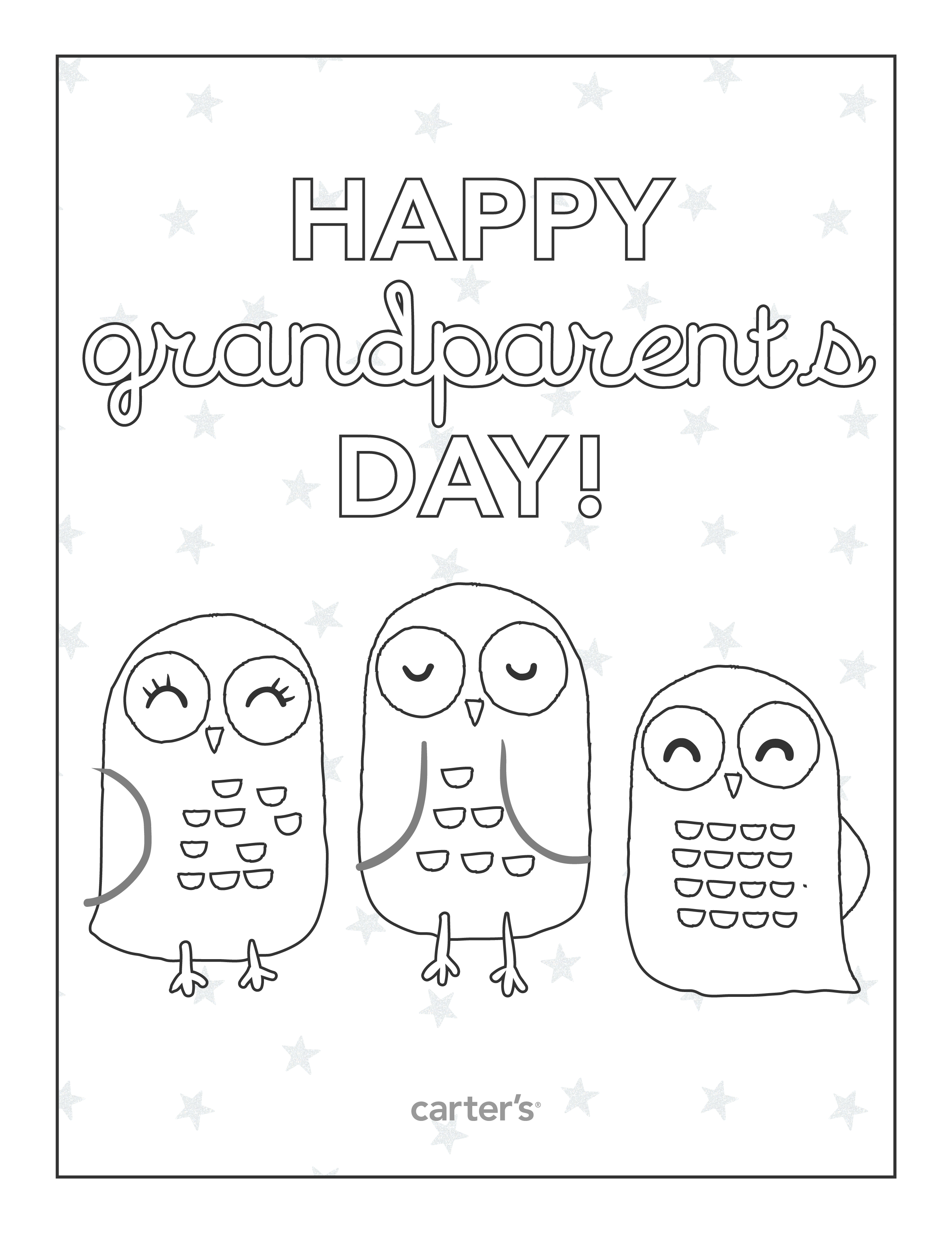 Free Printable Grandparents Day Coloring Pages From Carter Coloring Pages For Grandparents Day