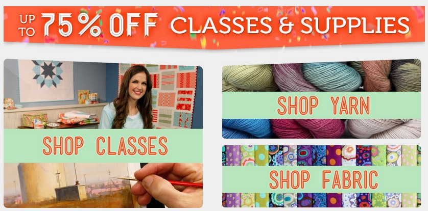 Craftsy: *HOT* 75% Off Craft Supplies, Yarn, Fabric and More!!