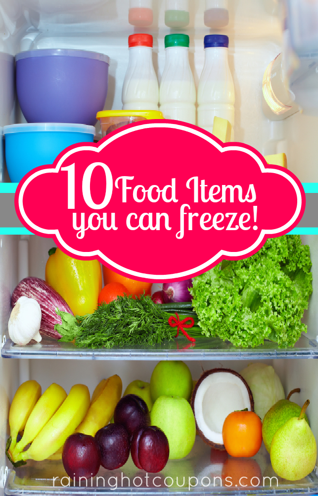 food items freeze