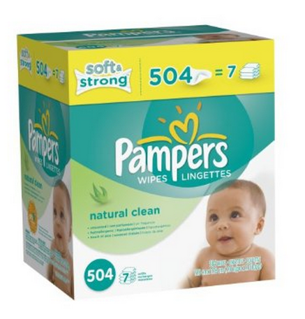 pampers Amazon *HOT* Pampers Natural Clean Wipes 507 Count Box $7.78 Shipped
