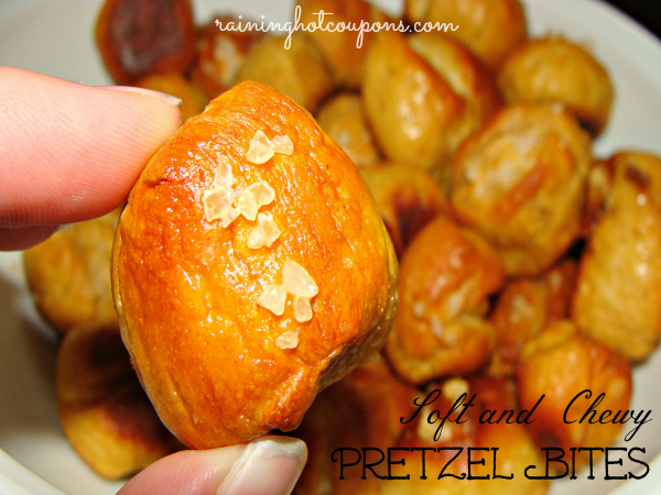 Soft and Chewy Pretzel Bites