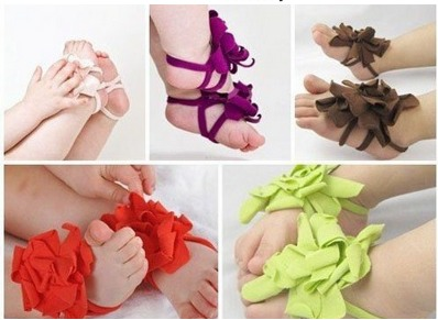 *HOT* Baby Barefoot Flower Sandals Only $0.86 Shipped!