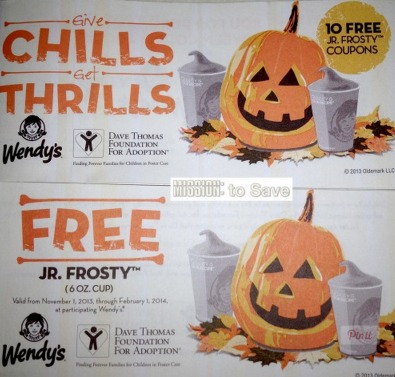 Wendys Frosty Coupon Booklets = 10 FREE Jr. Frosty Drinks Only $1.00 Total!