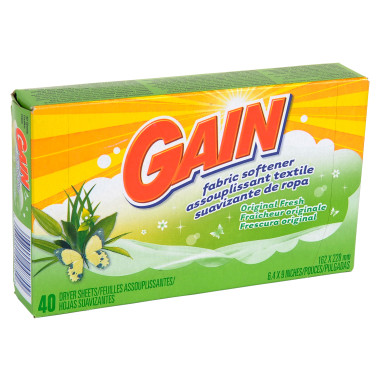 Gain Fabric Sheets FREE Gain Dryer Sheets at Dollar Tree!