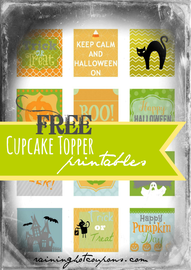 Square cupcake toppers pdf