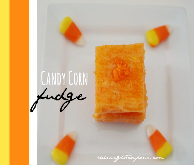 Candy Corn Fudge (Using Cake Batter)