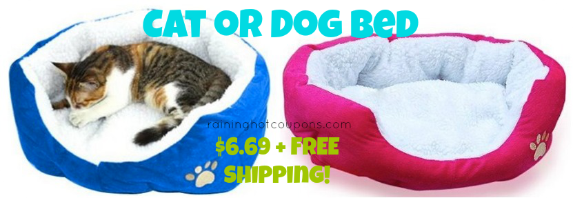 cat bed 2 Amazon: *HOT* Cat or Dog Bed Only $6.69 + FREE Shipping! (Blue or Pink)