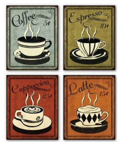 coffee Amazon: 4 8X10 Coffee Art Work Prints Only $5.28 + FREE Shipping (Reg. $16.00)!