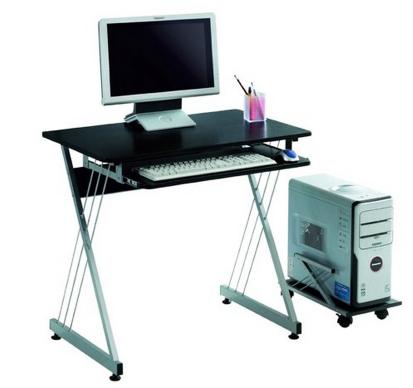 Simple Here us an awesome deal if you ure in need of a nice puter desk You can get this LexMod Sleek Black Office Computer Desk with Rollout Tray for just